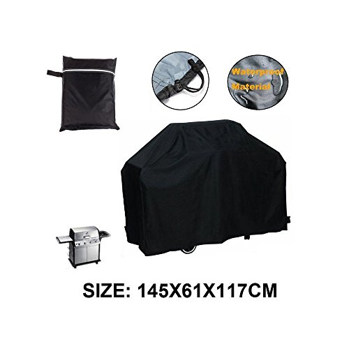 "Barbecues Cover, LU2000 BBQ Cover Outdoor Grill Cover Waterproof Dustproof UV Protection Barbecue Grill Covers 57""L x 46""H x 24""D - Black (Bar Covers Q B)"