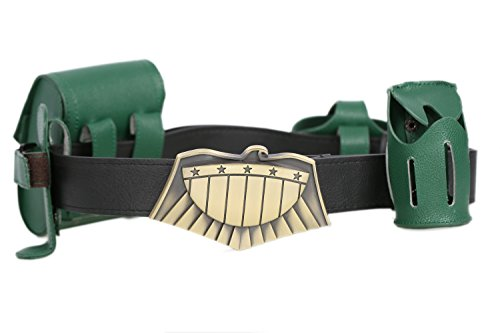 Xcoser Judge Dredd Belt Buckle Badge with Pouches