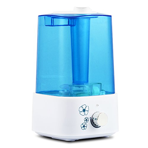 2.0L Ultrasonic Cool Mist Humidifier (20 Hours Continuous Capacity) Auto Shut-off/Night Light/Whisper Quiet Aromatherapy Oil Diffuser Ionizer Air Purifier for Baby Room Single Bedroom Home and Office