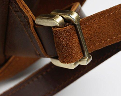 Voyage Crazy Brown À Capacité Plein Grande M De Sac Size Bandoulière Brass Retro Homme color En Horse Pour Skin Air dznXwqpxa