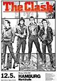 THE CLASH - 1980 Hamburg Germany Retro Concert Promotional Poster - Poster Size : A4