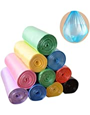 Trash Bags, 5 Rolls/100 Counts 4 Gallon biodegradable trash Bags for Bathroom, Bedroom, Office, Car, Home Waste Bin Plastic Trash Can Liners, Cat Litter Bags, Multi-color