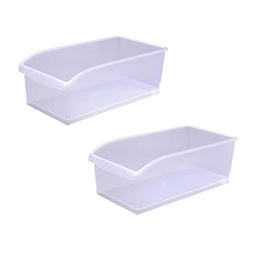Cocina Nevera Caja de Almacenamiento Caja de plástico Transparente ...