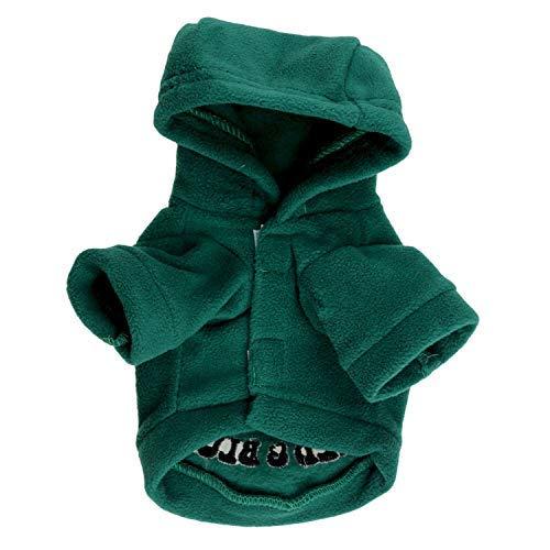 Costume da compagnia per feste Commercio all'ingrosso di abbigliamento per animali Vestiti per cani T-shirt con cappuccio stampata per cani Modelli autunno e inverno (colore  verde, Taglia  M) Pet Uni