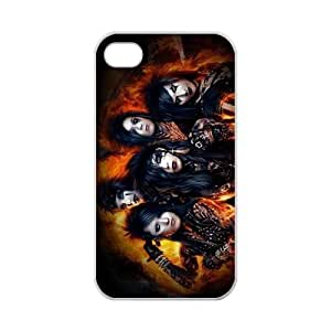 Custom Black Veil Brides BVB Andy Six With Other Band Members Case Cover Protector Compatible with iPhone 4 4S 100% TPU (Laser Technology)