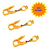 3Pcs AT05-3O Orange Sino-Max Glove Grabber Clip Holder Guard Work Safety Clip Glove Keeper, Neon POM,Reduce Hand Injury and Clip, Grab, Attach Gloves, Towels, Glass, Helmet