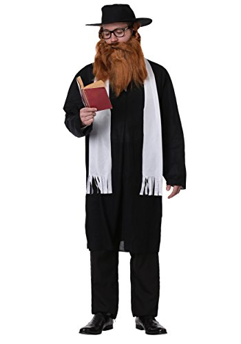 FancyDress-Party Rabbi Costume - Standard - Chest Size 33-45 -