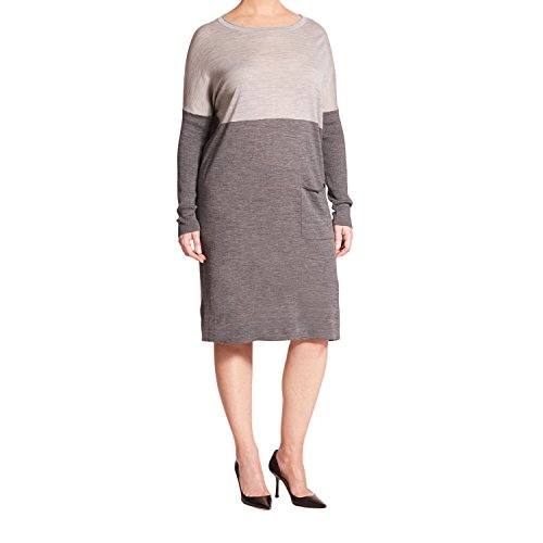 marina-rinaldi-womens-giara-two-tone-sweater-dress-large-grey