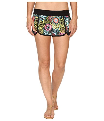 Hurley Women's Supersuede Printed Scallop Beachrider Boardshorts Hyper Jade Board Shorts SM (US 2-4)