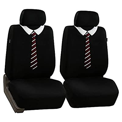 FH GROUP FH-FB038114 Stylish Cloth Full Set Car Seat Covers (Airbag Ready) - Fit Most Car, Truck, Suv, or Van