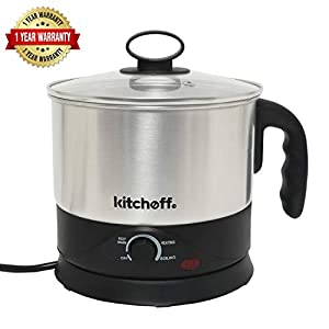 Kitchoff WDF Automatic Electric Multi-Purpose Kettle (Sliver and Black) (1.5 Litre) 5