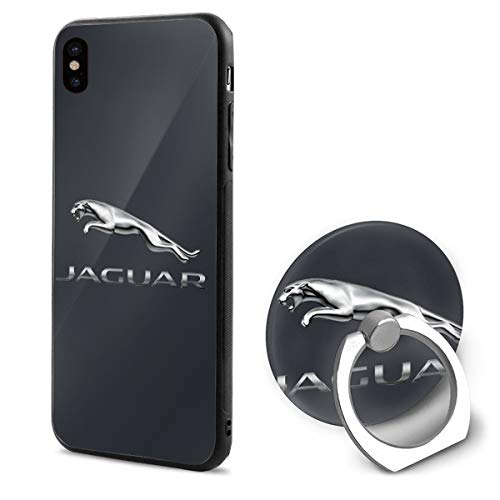 LightCa General Motors Jaguar Logo iPhone X Mobile Phone Shell Ring Bracket White 48 ()