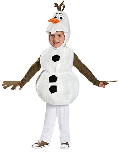 UHC Disney Frozen Olaf Plush Jumpsuit Toddler Kids Fancy Dress Halloween Costume