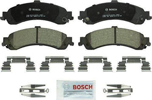 Bosch BC834 QuietCast Premium Ceramic Disc Brake Pad For: Cadillac Escalade, ESV, EXT; Chevrolet Avalanche, Silverado, Suburban, Tahoe; GMC Sierra, Yukon, Yukon XL, Rear