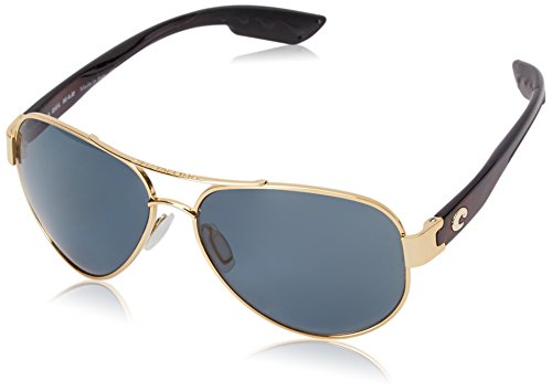 Costa del Mar Unisex-Adult South Point SO 26 OGP Polarized Aviator Sunglasses, Gold, 59 mm by Costa Del Mar