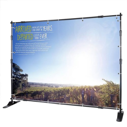 8' Jumbo Telescopic Trade Show Adjustable Banner Holder/stand