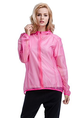 CYZ Women's Ultralight Wind Shell Water Proof Running Jacket - Bike - Running Jacket Ultralight