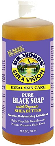 Vision Wood (Dr. Woods Shea Vision Pure Black Soap with Organic Shea Butter 32 oz (Pack of)