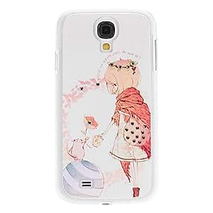 JOE Short Hair Girl Pattern Hard Case with Rhinestone for Samsung Galaxy S4 I9500