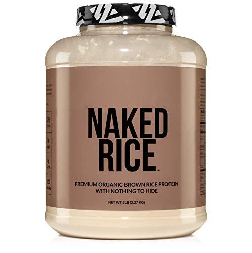 Naked Rice - Organic Brown Rice Protein Powder - Vegan Protein Powder - 5lb Bulk, GMO Free, Gluten Free & Soy Free. Plant-Based Protein, No Artificial Ingredients - 76 Servings