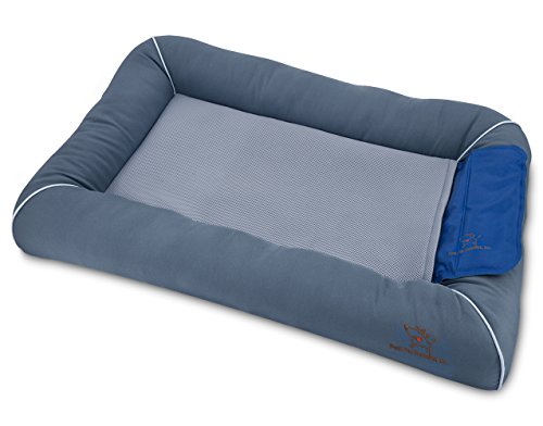 Cooling Pet Bed with Removable Self-cool Gel Mat...