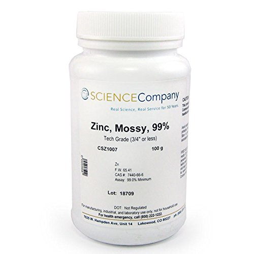 The Science Company NC-9848, Zinc Metal, Mossy 100g