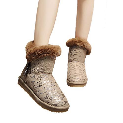 Rond Et Décontracté 2018 Au Hiver Bout Bottes À Garder Léopard Automne Pour Chic Femme Coton De Nouveau Femmes Les Neige Chaussures Beige Chaud Motif En Chaussure wPCq7pZ