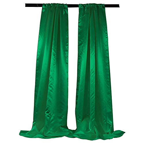 Foam Drape Back - New Creations Fabric & Foam Inc, Polyester Bridal Satin Backdrop/Drape. Curtain Panel with 4