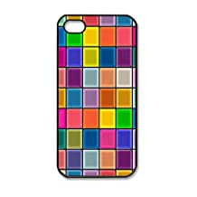 Custom Iphone 4 Case,Iphone 4S Case,Colorful plaid walls as Iphone 4 Cases,Iphone 4S Cases,