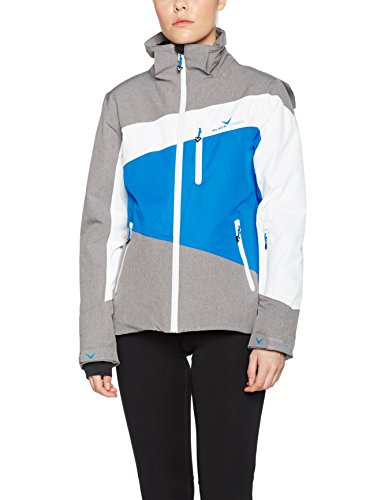 Black crevice Chaqueta de esquí para mujer Gris / Azul / Blanco