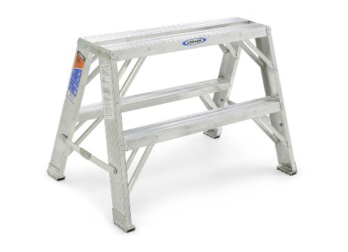 Werner TW372-30 300-Pound Duty Rating Aluminum Twin Stepladder and Portable Work Stand, 2-Foot