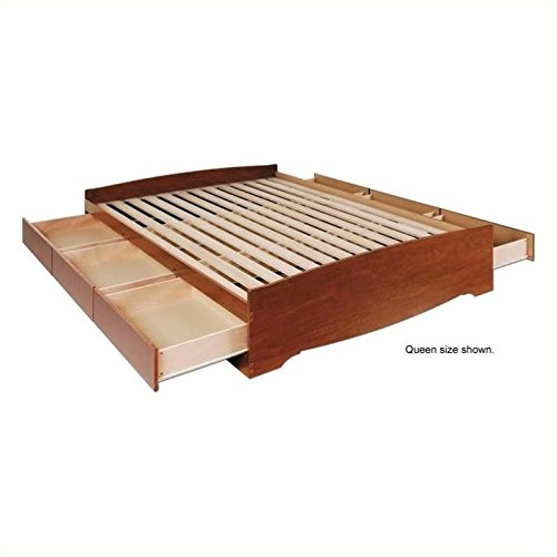 Bowery Hill Queen Platform Storage Bed in Cherry