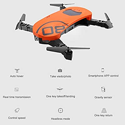 GAOAG Mini RC Drone with WiFi FPV HD Camera Altitude Hold Headless Mode One Key Return APP Control and Two Speed Modes,Compatible with VR Headset.(Green) from GAOAG