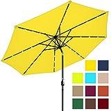 Best Choice Products 10ft Solar LED Lighted Patio Umbrella w/Tilt Adjustment - Yellow
