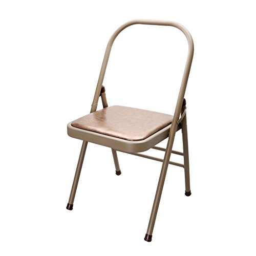 uxcell Iron Household Office Exercise Relaxing Fitness Backless Folding Yoga Chair Prop