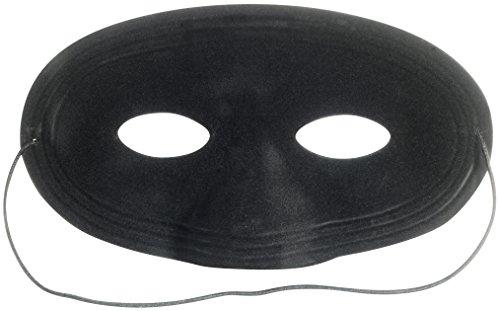 Loftus Cowboy Dastardly Bandit Bad Guy Half Mask, Black, One Size