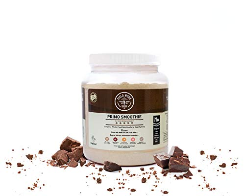 Field Work Nutrition Co. Cacao Primo Smoothie Meal​ ​Replacement​ Shake ​with Grass Fed Whey​ ​Protein​:​ Real Food​ Protein Powder​ ​Smoothie​ ​Mix with Turmeric, Tart Cherry and Probiotics