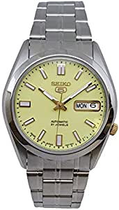 ساعة سيكو 5 أتوماتيكية 21 جواهر Lumibirite الفولاذ المقاوم للصدأ