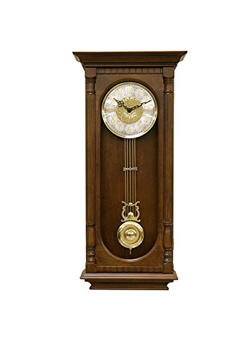 Hermle Chatham Regulator Wall Clock with Westminster or Bim Bam Chimes in Antique Walnut Finish Model # 70802N92214