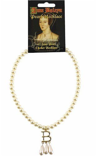 "Anne Boleyn (Ugly Betty) 16"" Pearl Choker Necklace - Authentic Replica"