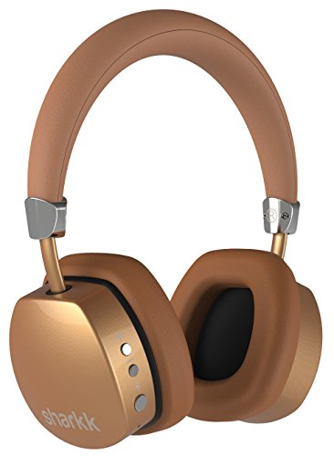 Sharkk Aura Wireless Bluetooth Headphones On-Ear Headset Advanced Bluetooth 4.0 Technology with 18 Hour Battery Life and Built-In Mic