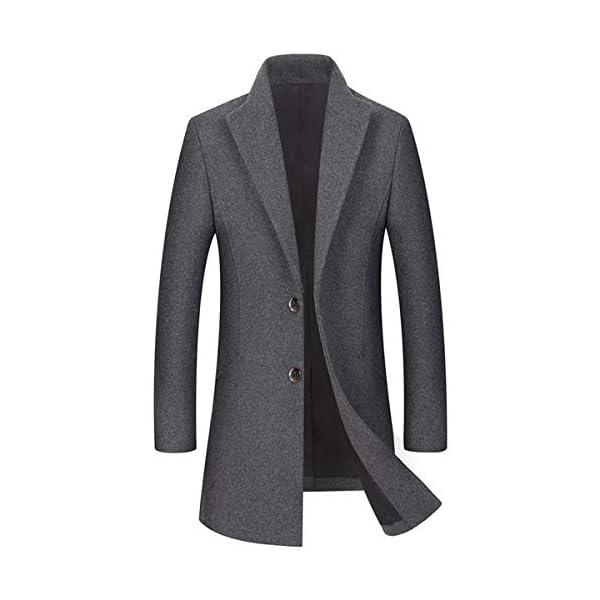 Allthemen Manteau Homme Trench-Coat Hiver Long Parka Coupe Caban en Laine