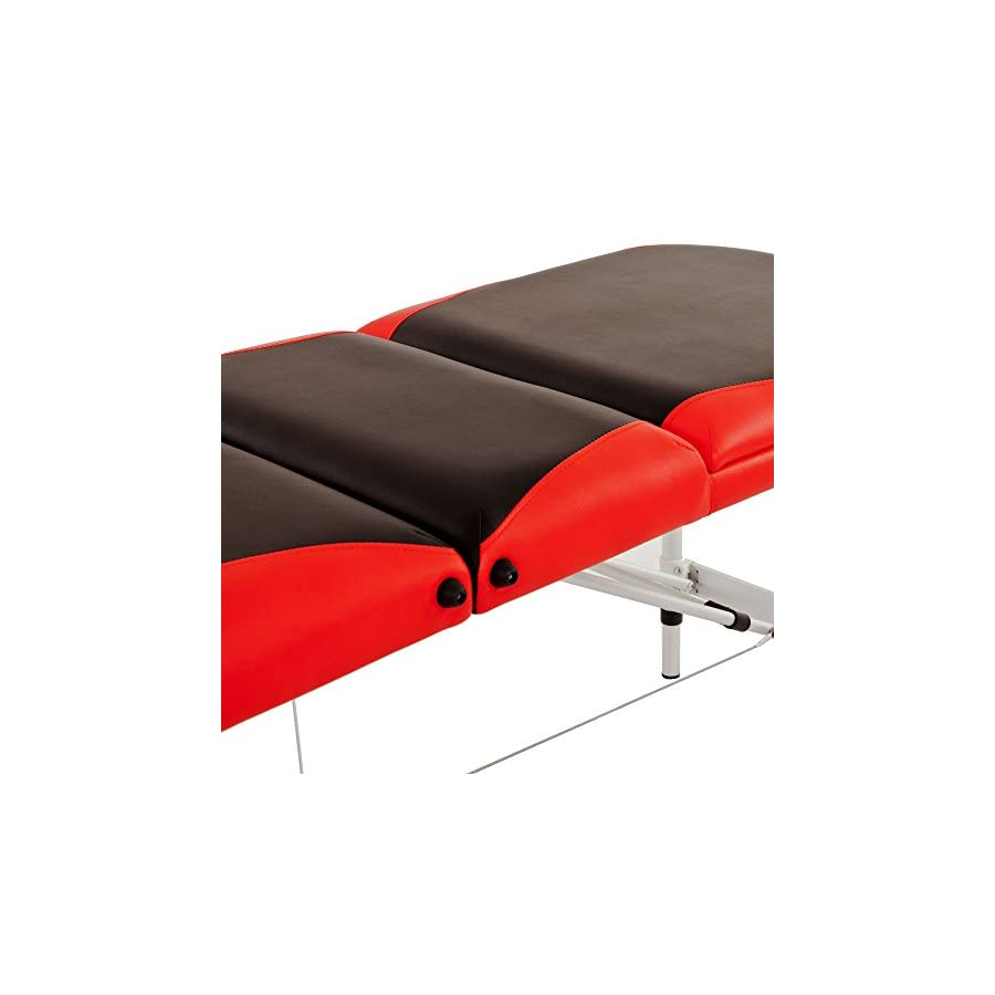 "Massage Aluminum Table Portable Facial Bed 84""L 3 Fold W/ Sheet Bolsters Carry Strong heavy Black Orange"