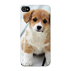 Inthebeauty Iphone 5/5s Hybrid Tpu Case Cover Silicon Bumper Cute Brown And White Puppy