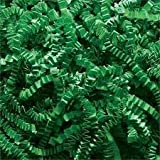 """Abc 10 lb Natural Crinkle Cut Eco-Spring Fill, Filler for Gift Baskets and Boxes. 10 lb. Box, """"Color Green"""""""