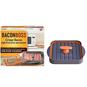 Allstar Innovations BaconBoss Microwave Bacon Cooker for Healthier, Crispy Bacon