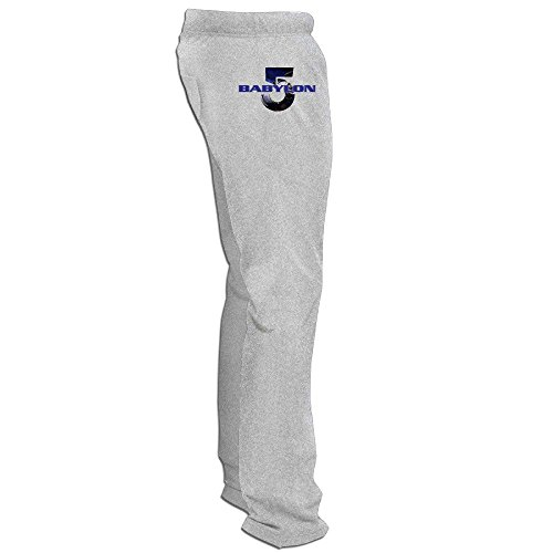 MZONE Cute Babylon 5 Running Pants For Men Ash Size M