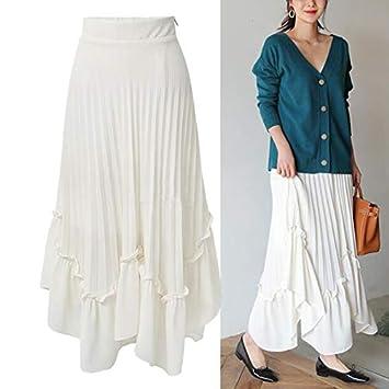 QYYDBSQ Primavera Verano Mujer Falda Pantalones Cortos Gasa Maxi ...