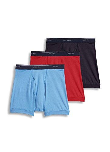 (Jockey Men's Underwear Classic Boxer Brief - 3 Pack, Cosmic Mix, 2XL)