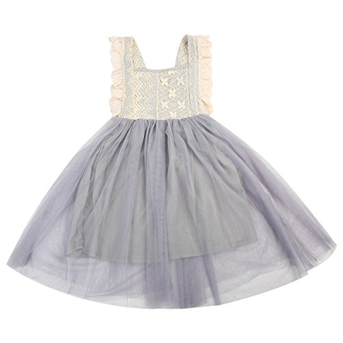 Better Annie Toddler Kids Baby Girl Dress Children Clothing Girls Costume Floral Summer Bowknot Party Sleeveless Lace Dressa ()